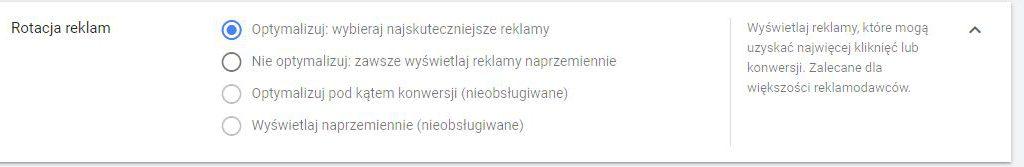 reklamy rotacja adwords